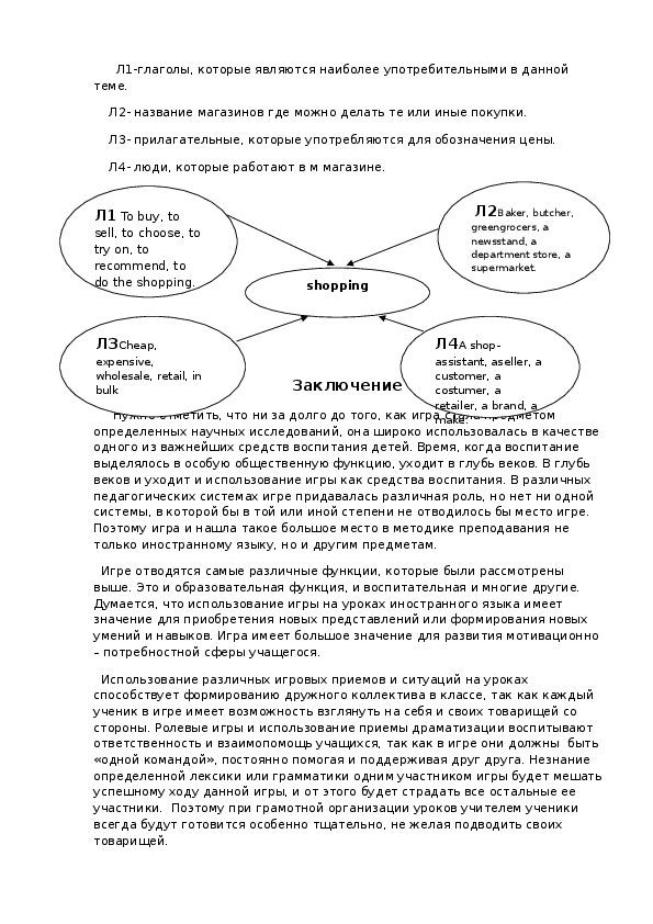 Игровой метод в обучении английскому языку