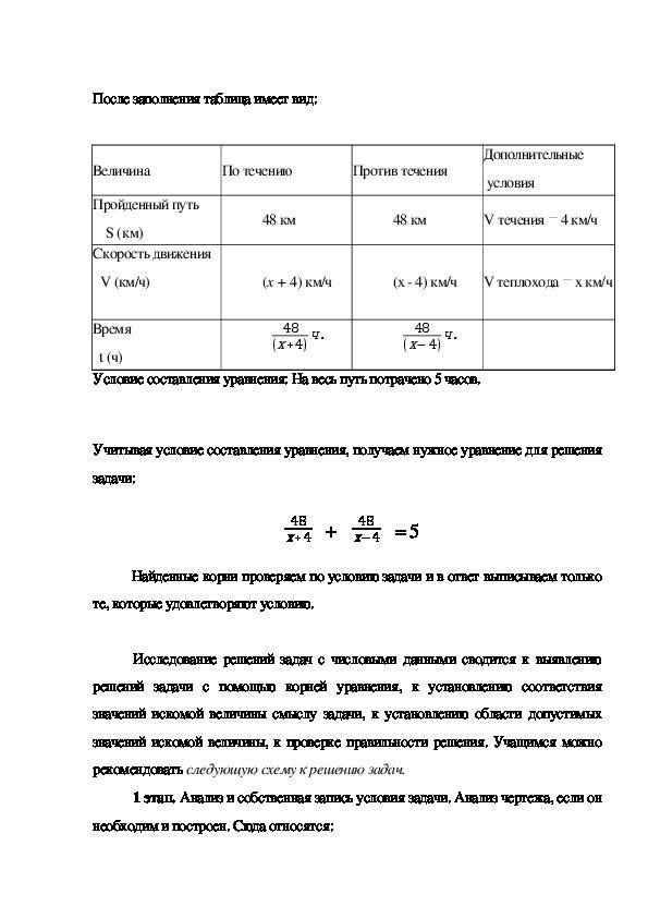 """Статья по теме""""Роль таблиц при решении задач на составление  дробно-рациональных уравнений"""""""