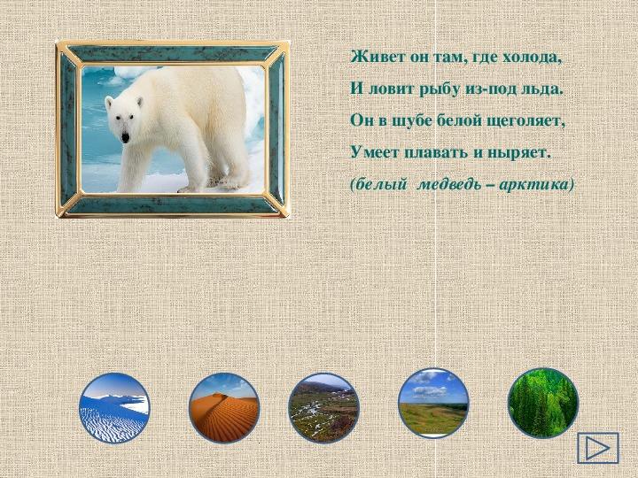Интерактивная  игра «Природные  зоны  и   их  обитатели»